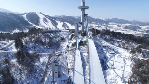 PyeongChang winter Olympic stadium Footage