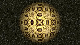 Abstract decorative video with rotating light brown sphere Animation
