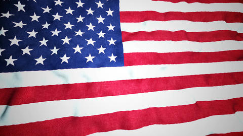 American Flag Seamless Video Loop Animation