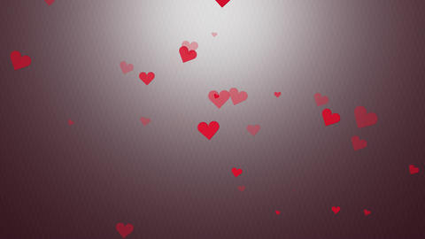 Valentine hearts appearing colorful scene Animation