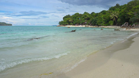 Beach and rocks on Koh Lipe island,Thailand Footage