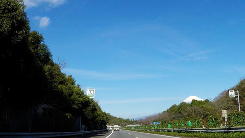 A car window on the highway in Japan Footage