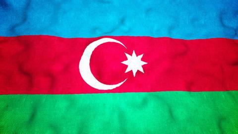 Azerbaijan Flag Seamless Video Loop Animation