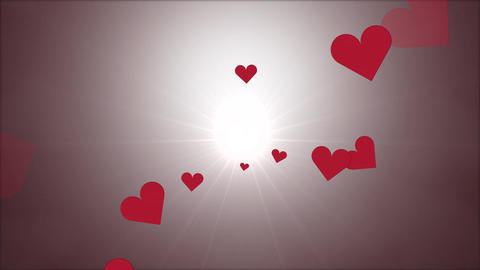 Valentine hearts moving travel center Animation