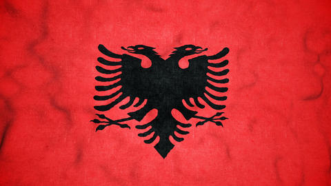 Albanian Flag Seamless Video Loop Animation
