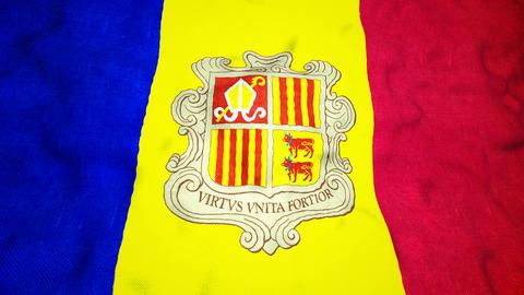 Andorran Flag Seamless Video Loop Animation