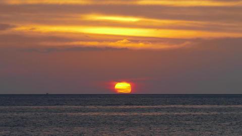 Beautiful landscape with sea sunset, timelapse 4k Footage
