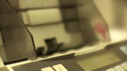 hand put money in counter machine Footage