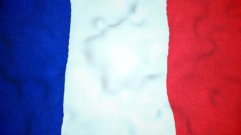 French Flag Seamless Video Loop Animation