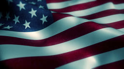 Beautiful flag of the USA waving in the wind Animation