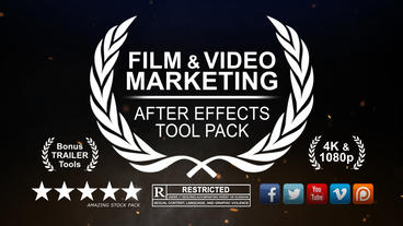 Film and Media Marketing Pack After Effects Template
