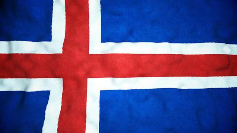 Icelandic Flag Seamless Video Loop Animation