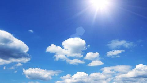 Summer sky 001 Footage