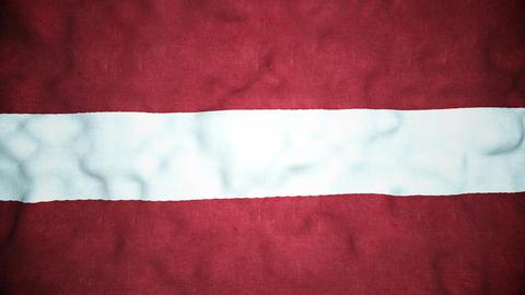 Latvian Flag Seamless Video Loop Animation