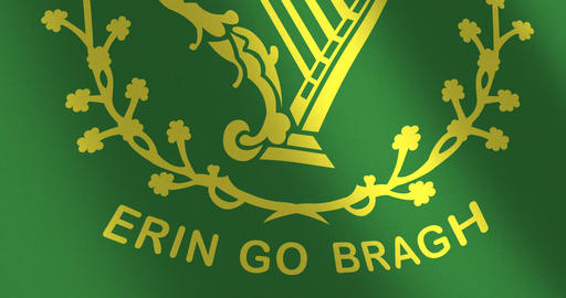 Flag Erin go bragh moving wind Animation