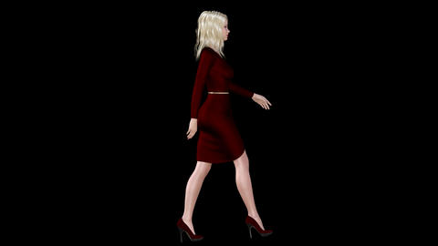 NR161 Catwalk Model Right Animation