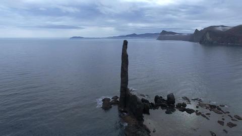 Leave the rock pillar on the japan sea Footage