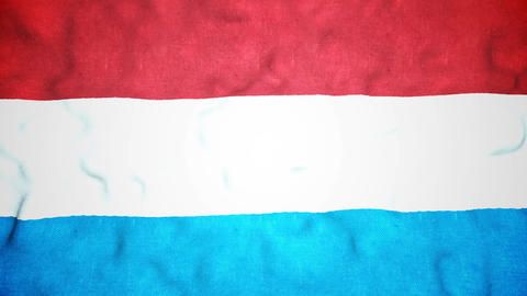 Luxembourger Flag Seamless Video Loop Animation