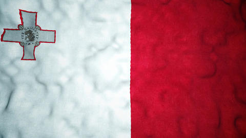 Maltese Flag Seamless Video Loop Animation
