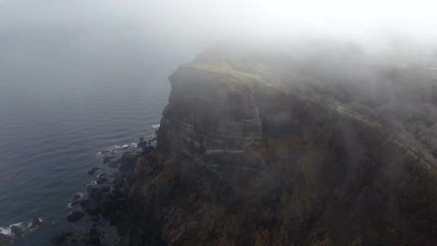 Misty coast rocky field Footage