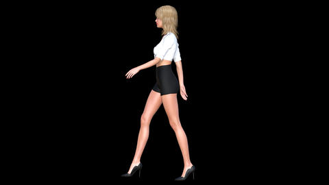 NR163 Catwalk Model Left Animation