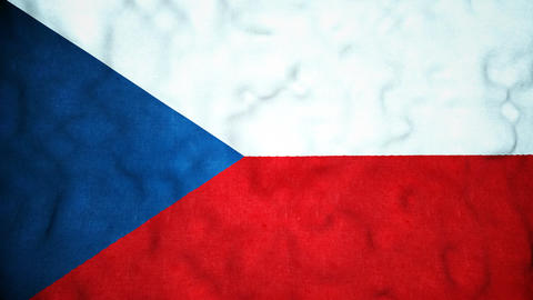 Czech Flag Seamless Video Loop Animation