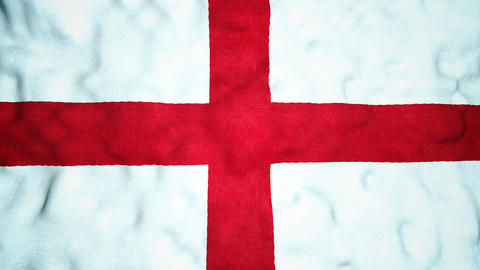 English Flag Seamless Video Loop Animation