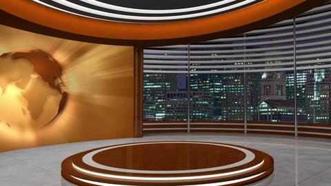 News TV Studio Set 252- Virtual Background Loop ライブ動画