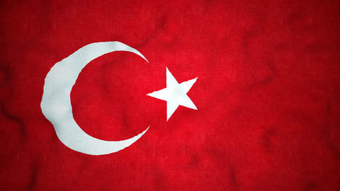 Turkish Flag Seamless Video Loop Animation