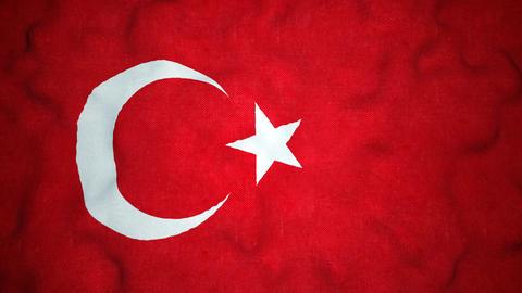 Turkish Flag Seamless Video Loop Stock Video Footage