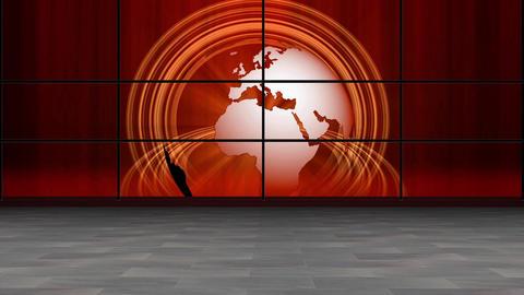 News TV Studio Set 257 - Virtual Green Screen Background Loop Footage