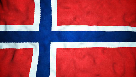 Norwegian Flag Seamless Video Loop Animation