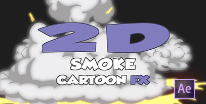 Cartoon Smoke After Effects Template