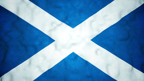 Scottish Flag Seamless Video Loop Animation