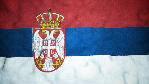 Serbian Flag Seamless Video Loop Animation