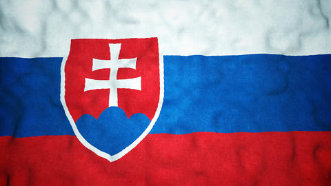 Slovakian Flag Seamless Video Loop Animation
