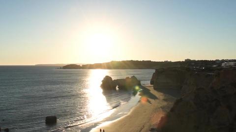 Praia da Rocha in Portimao, Portugal Filmmaterial