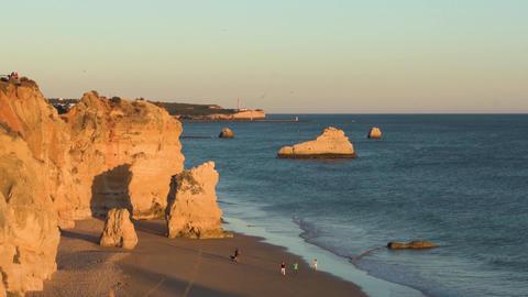 Praia da Rocha in Portimao, Portugal Footage