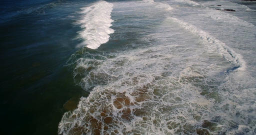Aerial, Flight Above Praia De Cavaleiro Coast Line, Portugal Stock Video Footage