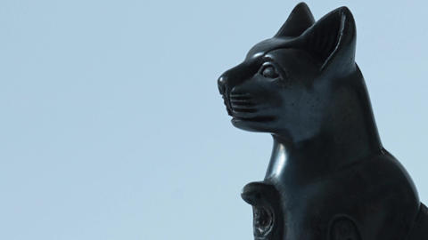 Sphinx with Cobra sculpture Footage