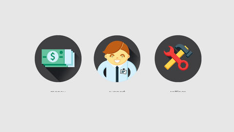 Business Icons After Effects Template