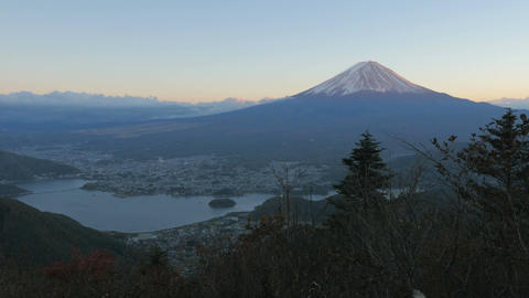 Sunset MtFuji 富士山 4K/HD/HD720/SD Stock Video Footage