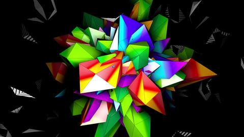 Color 3D Mapping 4K 02 Vj Loop Animation