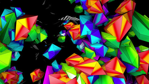 Color 3D Mapping 4K 03 Vj Loop Animation