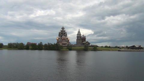 Kizhi (UNESCO) ancient russian landmark Footage