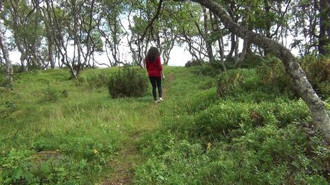 Lonely woman walking away Footage