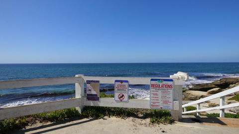 Two videos of ocean panorama in San Diego in 4K Footage