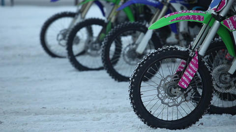 motocross starting line close to Footage