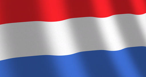 Flag The Netherlands moving wind Animation