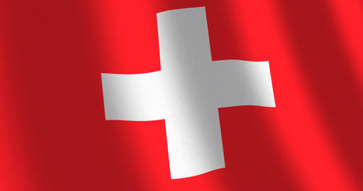 Flag Switzerland moving wind Animation
